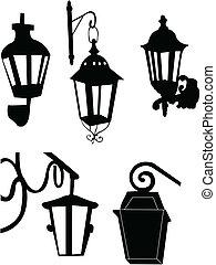 silhouette, lanterna