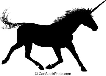 silhouette, licorne