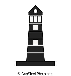 silhouette lighthouse building maritime