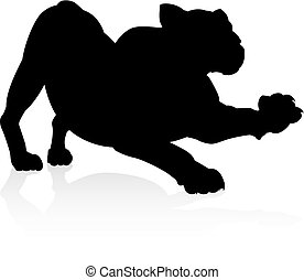 Silhouette Lion