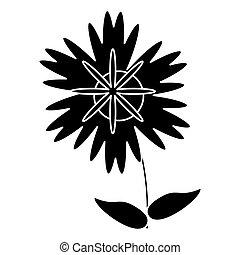 silhouette magnolia flower natural