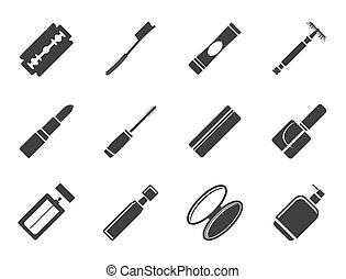 Silhouette Make-up icon set