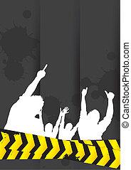 silhouette man banner