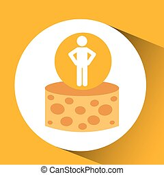 silhouette man cheese nutrition healthy