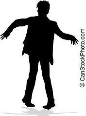 silhouette, man.