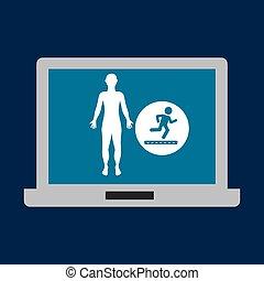 silhouette man fitness running
