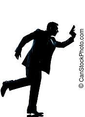 silhouette man full length