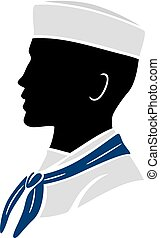 Silhouette Man Navy Soldier Illustration