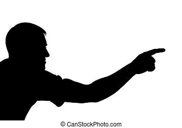 silhouette man showing something - man showing something ...