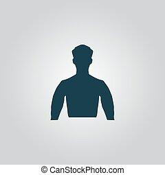 silhouette, man