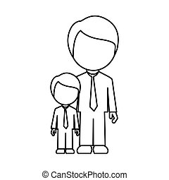 silhouette man with his son icon