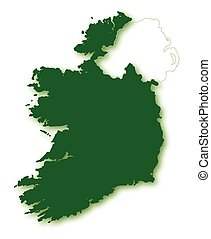 Silhouette Map Of Eire