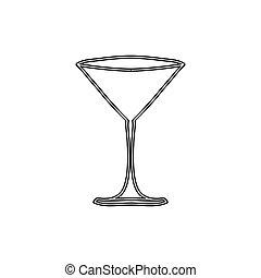 silhouette martini glass drink icon