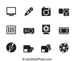 Media equipment icons