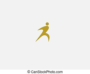 silhouette, menselijk, abstract, logo, pictogram