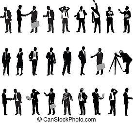 silhouette, mensen