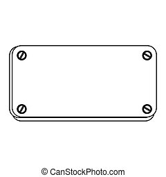 silhouette metal plate with screws