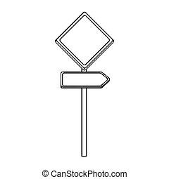 silhouette metallic plaque sign post set