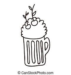silhouette milkshake drink design icon
