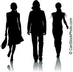 silhouette, mode