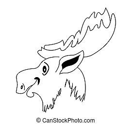 silhouette moose muzzle
