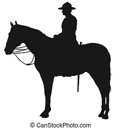 silhouette, mountie, canadien