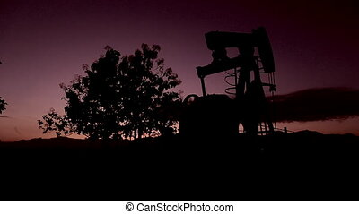 Silhouette Moving Crude Oil And Petrochemical Products...