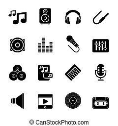 Music, sound and audio icons