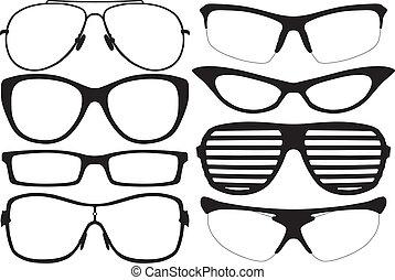 silhouette, occhiali