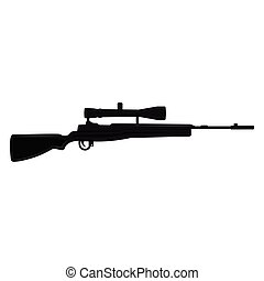 Silhouette of a a sniper rifle