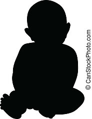 baby - silhouette of a baby
