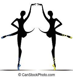 silhouette of a ballerina