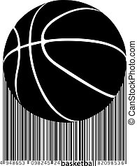 Silhouette of a basketball ball.