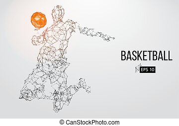 Silhouette of a basketball player. Vector illustration