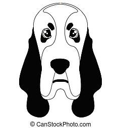 Silhouette of a basset hound avatar