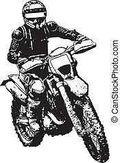 biker - silhouette of a biker