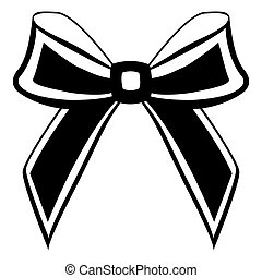 silhouette of a bow on a white background