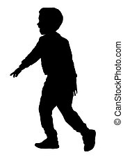 Silhouette of a boy
