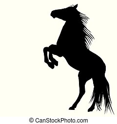 Silhouette of a bucking horse