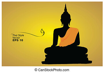 Silhouette of a Buddha