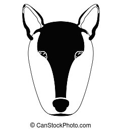 Silhouette of a bull terrier avatar - Isolated silhouette of...