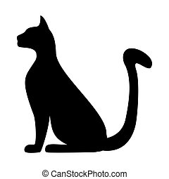 silhouette of a cat