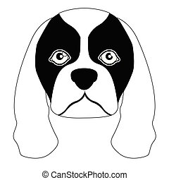 Silhouette of a cavalier king charles spaniel avatar -...