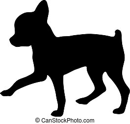 Silhouette of a chihuahua.Vector illustration