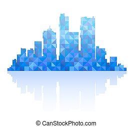 Silhouette of a city