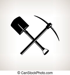 Crossed Shovel and Pickaxe