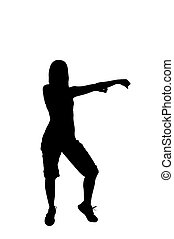 Silhouette of a dancer woman