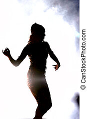 dancing girl - silhouette of a dancing girl