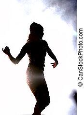 dancing girl - silhouette of a dancing girl