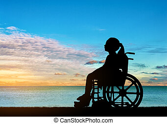 Conceptual image of a girl with a disability